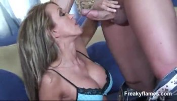 Shy amateur ends up with a facial