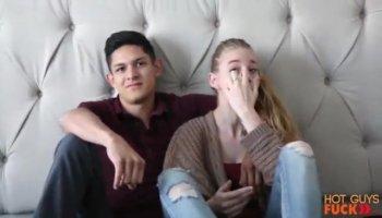 Teen blonde enjoys sex with her old boyfriend